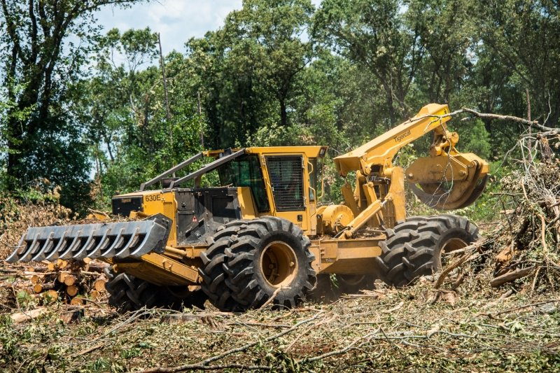 Tigercat 630E Grapple Skidder with Primex Flotation Forestry Tires