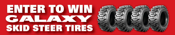 "Win Four Galaxy ""Beefy Baby"" Skid-Steer Tires"